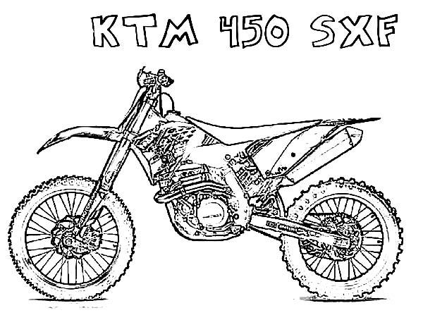 Kleurplaat Crossmotor Ktm Motocross Fahrrad Vektor 01