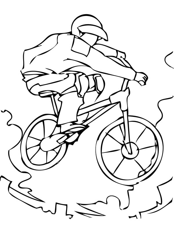 Extreme Sport BMX Bicycle Coloring Page: Extreme Sport BMX