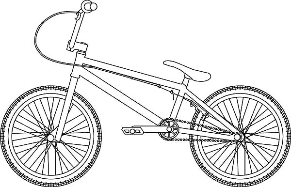 Hybrid Bicycle Coloring Page: Hybrid Bicycle Coloring Page