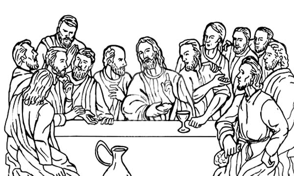 the last supper coloring page # 49