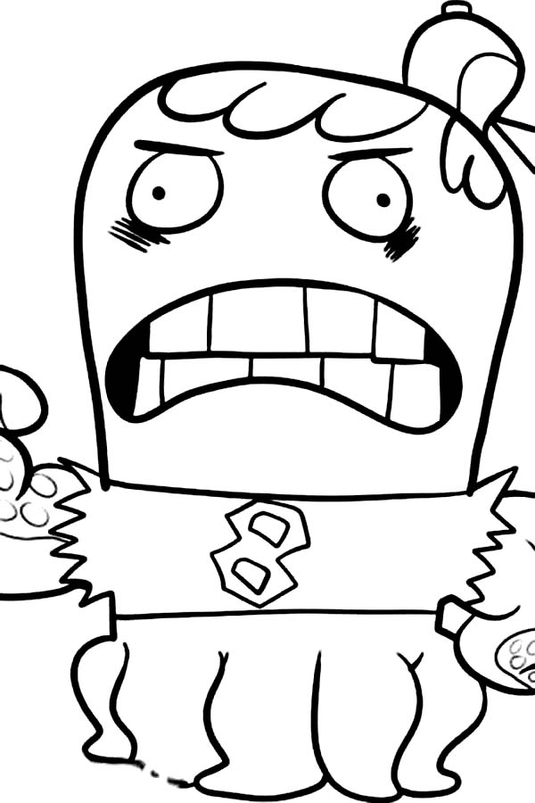 Joctopus is Angry in Fish Hooks Coloring Page: Joctopus is
