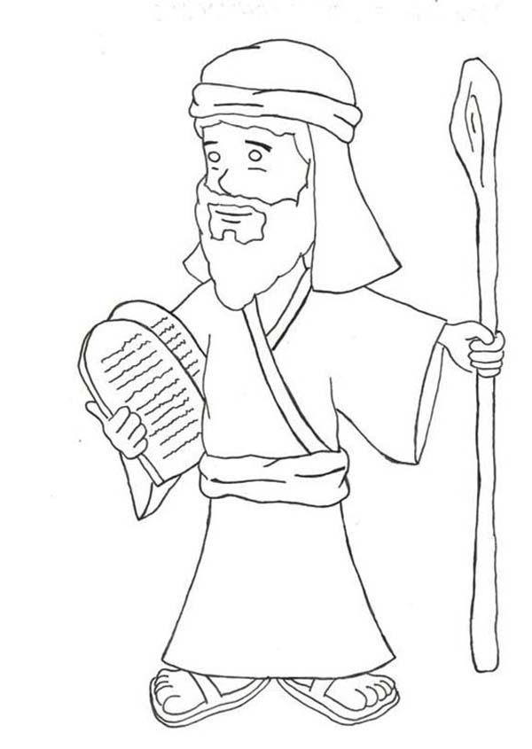 Kids Drawing Of Ten Commandments Coloring Page: Kids