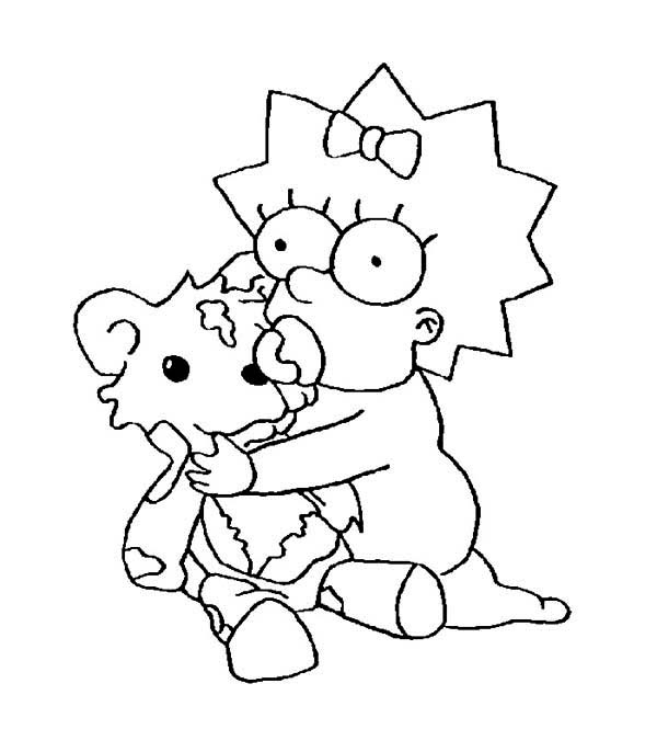 Maggie Simpson From The Simpsons Coloring Page: Maggie