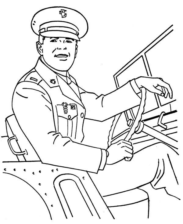 army cars us Colouring Pages
