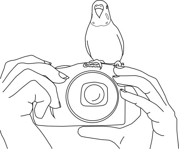 Polaroid Camera Tumblr Coloring Pages