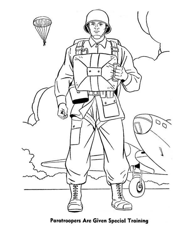 Free coloring pages of army special forces