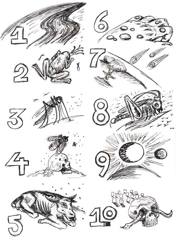 Picture Of 10 Plagues Of Egypt Coloring Page: Picture of
