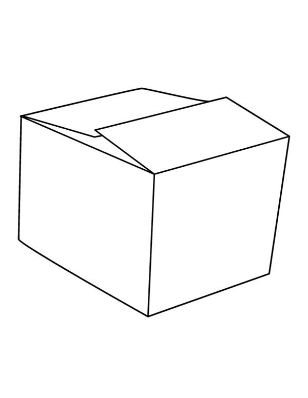 Picture of Box Coloring Page: Picture of Box Coloring Page