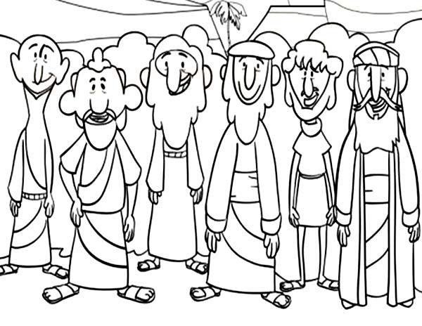 Jesus 12 Disciples Coloring Page Sketch Coloring Page