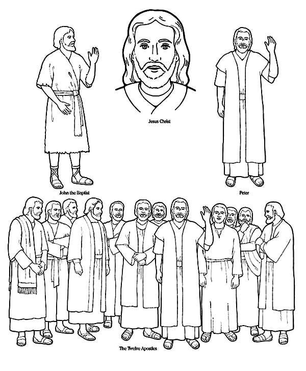 Jesus 12 Disciples Coloring Page Sketch Coloring Page