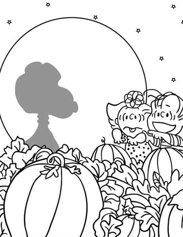 Big Pumpkin Coloring Page Great Pumpkin Charlie Brown