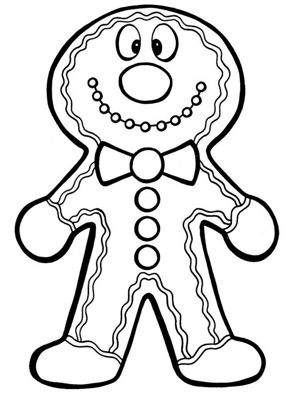 Silly Gingerbread Men Coloring Page: Silly Gingerbread Men