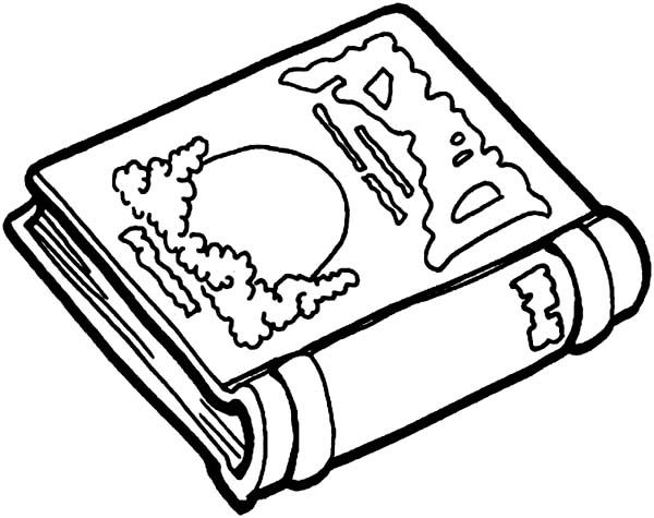 Story Book For Children Coloring Page: Story Book for