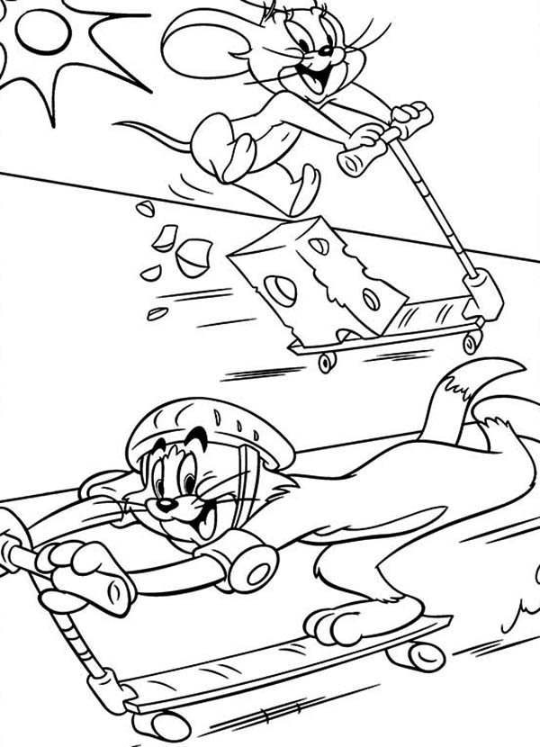 Stunt Scooter Coloring Pages Coloring Pages