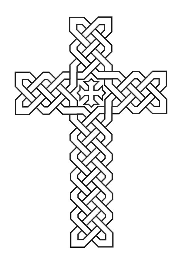 Tribal celtic cross coloring page tribal celtic cross, jesus loves me printable coloring pages