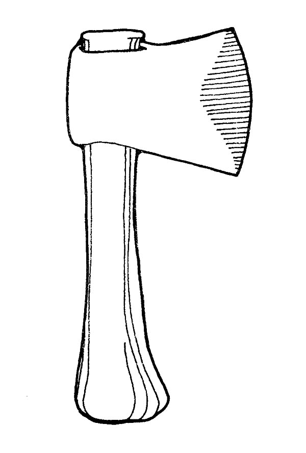 Free coloring pages of stone age tools