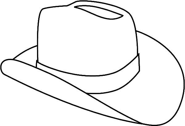 Cowboy Hat Outline