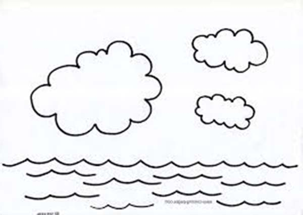 Ocean Water Cartoon Coloring Page Coloring Pages