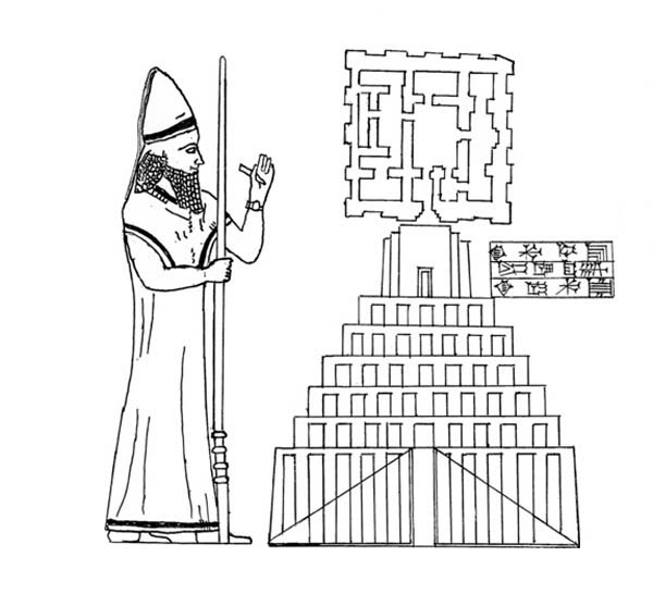King Nebuchadnezzar Build the City Coloring Pages: King