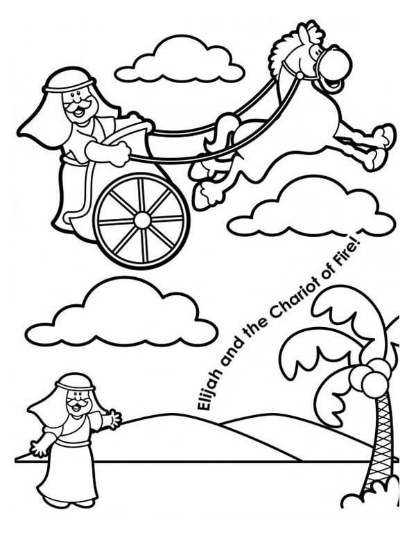 Coloring Pages Elijah And The Chariot Of Prophet Sketch
