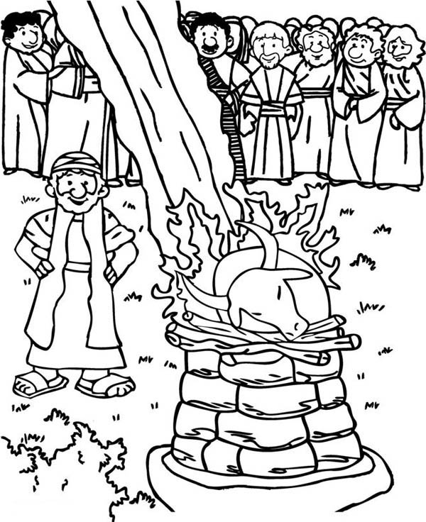 Prophet Elijah Praying to God Coloring Pages: Prophet