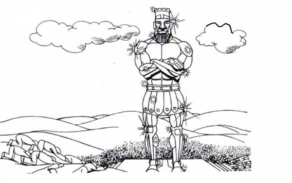 Free coloring pages of nebuchadnezzar dream