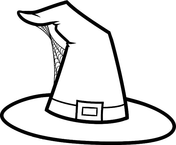 Witch Hat Colouring Pages Sketch Coloring Page