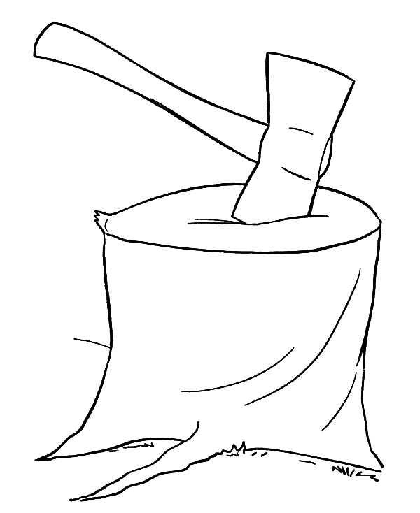 Drawing Hatchet Coloring Pages: Drawing Hatchet Coloring