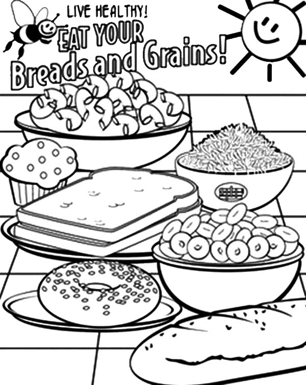 Grain Coloring Pages