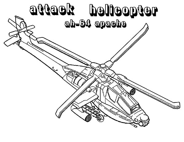 Helicopter Strike Force Coloring Pages: Helicopter Strike