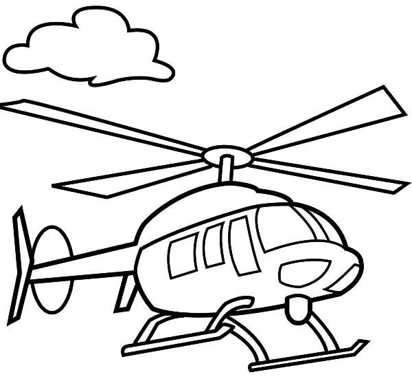 Cute Little Helicopter Coloring Pages: Cute Little