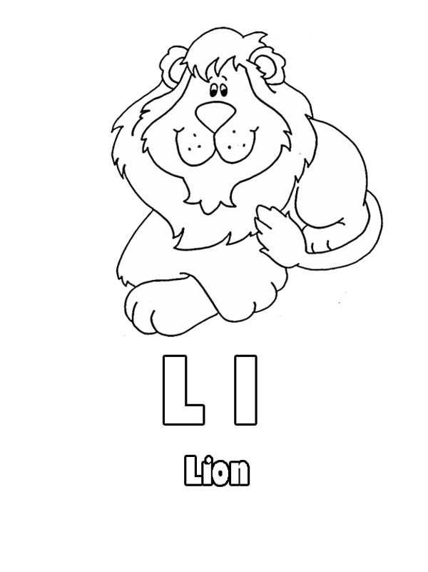 Letter L is for Lion Coloring Page: Letter L is for Lion