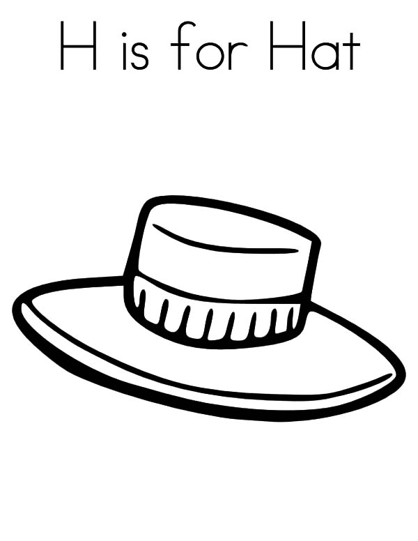 An Arrow Hit Cowboy Hat Coloring Pages: An Arrow Hit