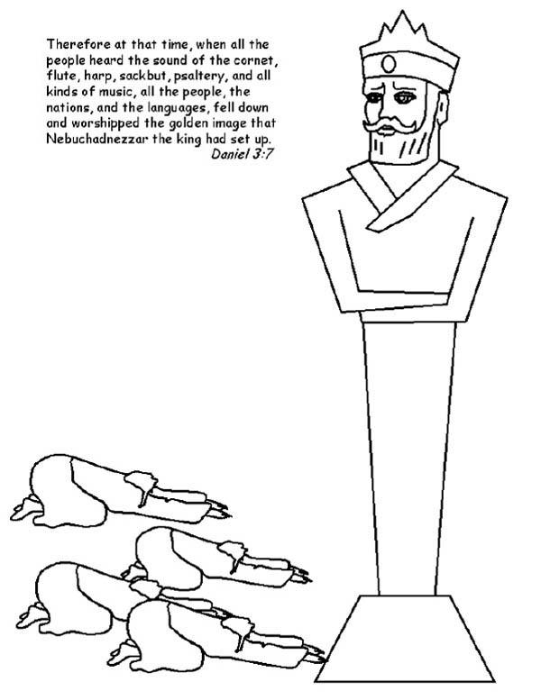 nebuchadnezzar statue drawing Gallery