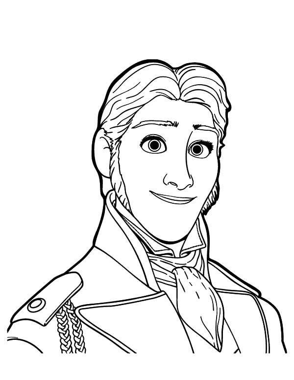 Portrait Of Prince Hans Coloring Pages: Portrait of Prince