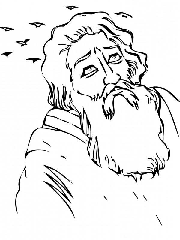 Elijah in the Wilderness Coloring Pages: Elijah in the
