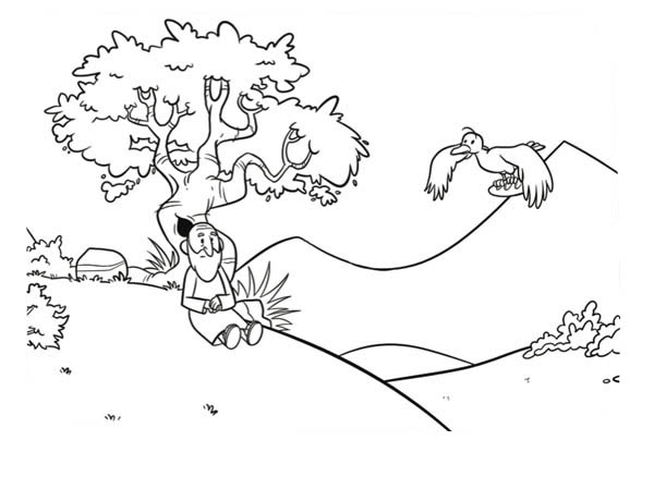 Elijah and His Chariot of Fire Coloring Pages : Coloring Sun