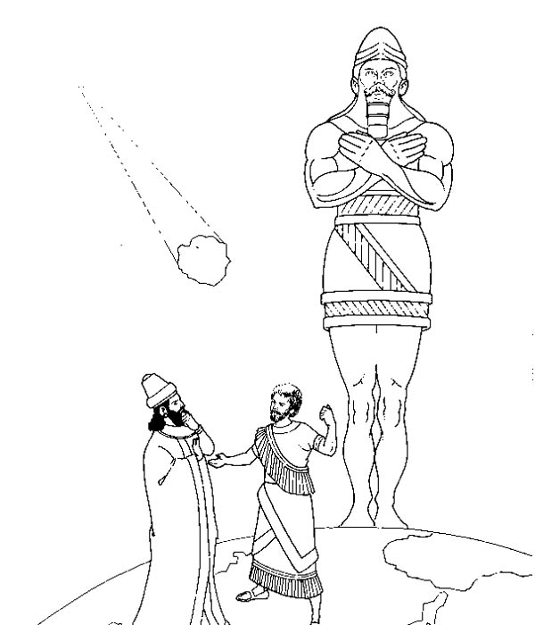 nebuchadnezzar statue drawing Gallery