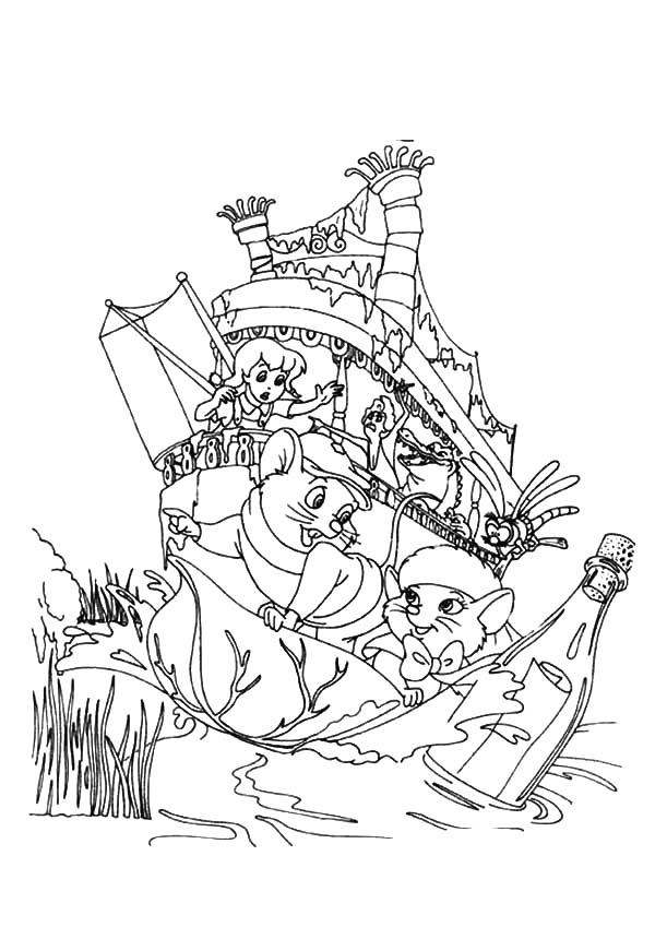 Bernard And Bianca The Rescuers Coloring Pages Coloring Pages