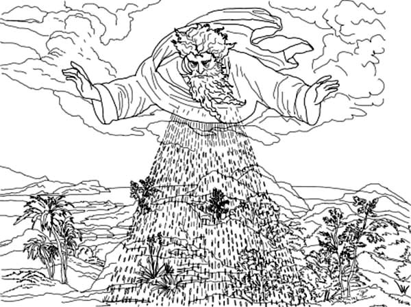 Third Days Of Creation Coloring Pages: Third Days of