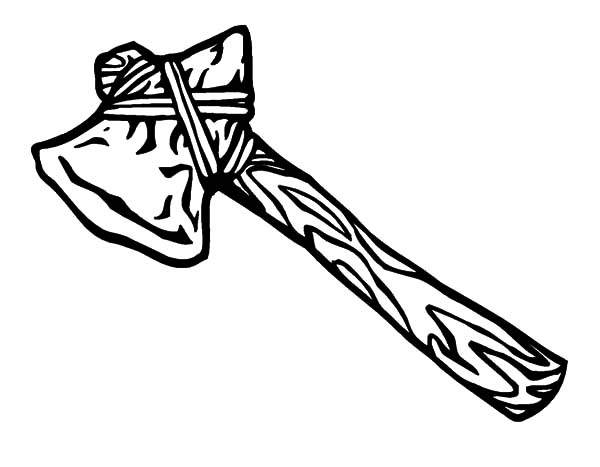Tomahawk Hatchet from Native American Coloring Pages