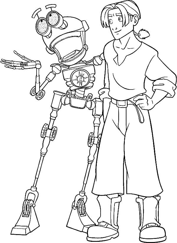 Treasure Planet B E N Tell Jim Hawkins Great Story Coloring Pages Coloring Sun