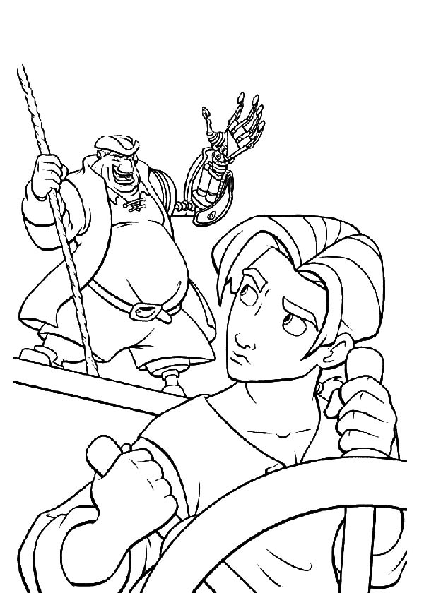 Pirate Ship Wheel Coloring Pages