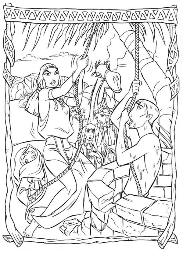 Prince Of Egypt Pages Coloring Pages