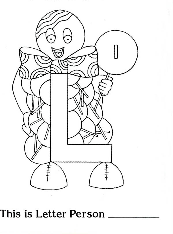 Letter L Is For Ladybug Coloring Page: Letter L is for