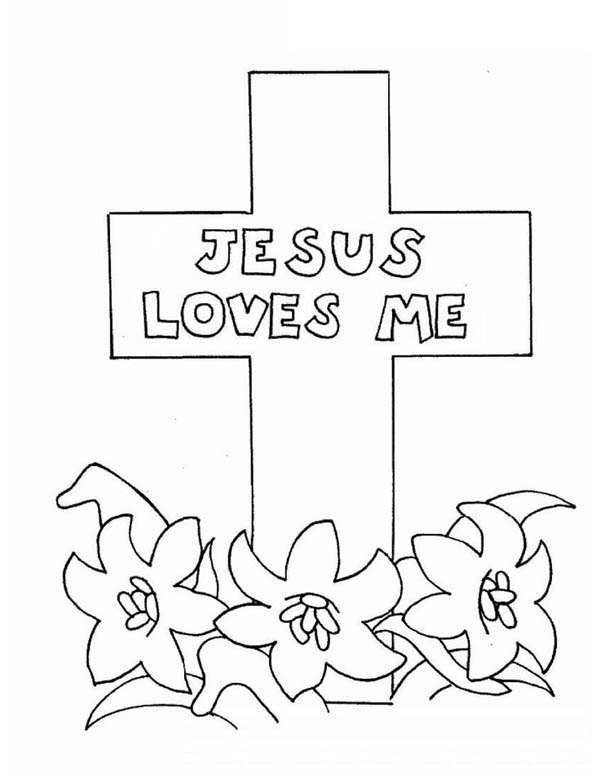 jesus loves you coloring pages