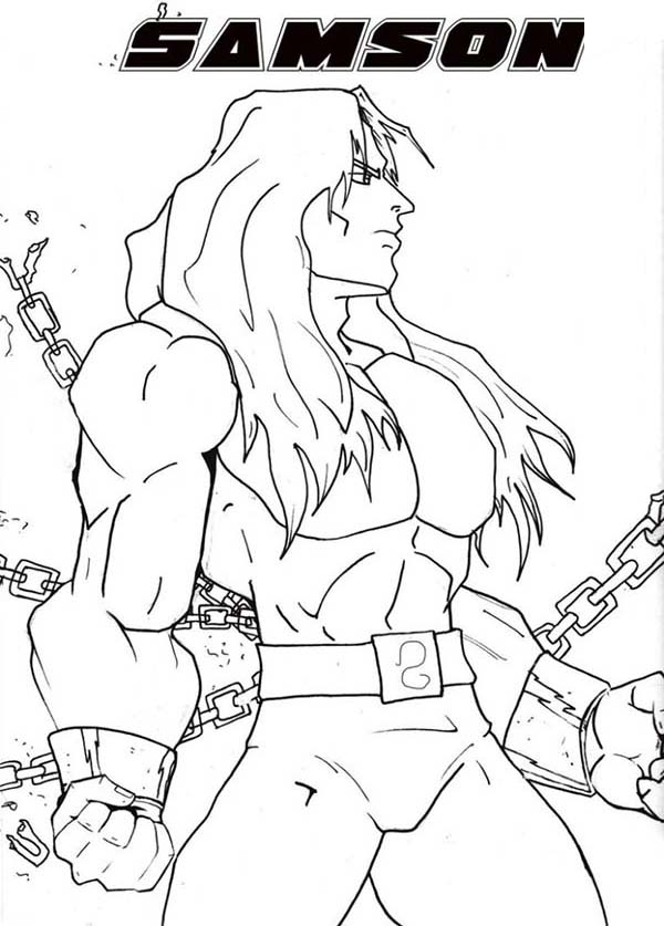 Samson Pages Coloring Pages