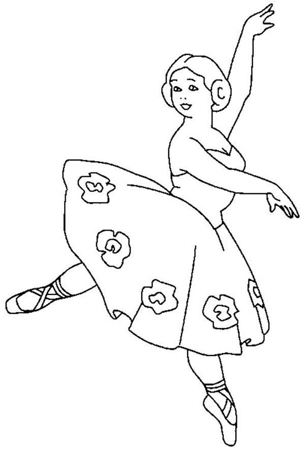 Ballerina Teacher Coloring Page: Ballerina Teacher