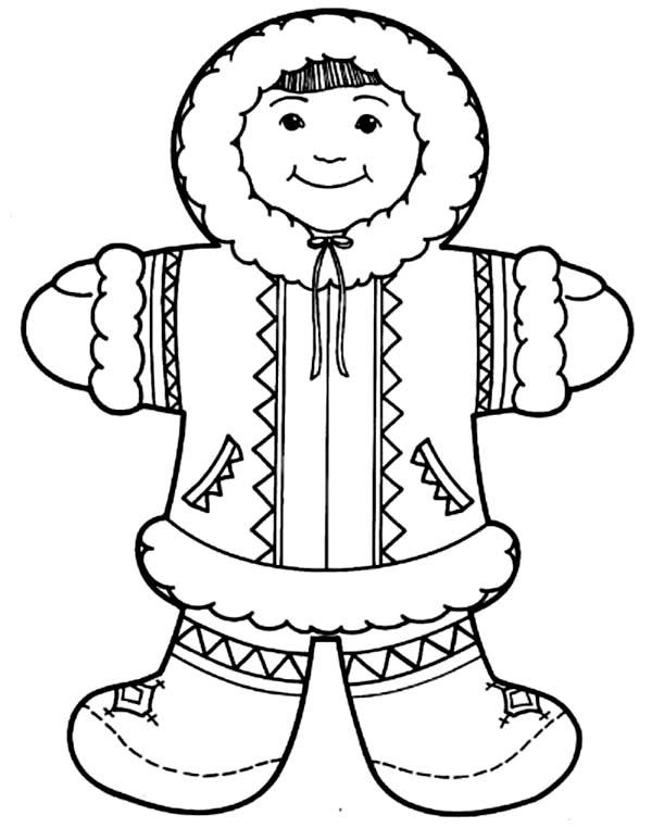 Cute Eskimo Girl Coloring Page Cute Eskimo Girl Coloring