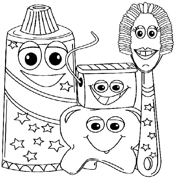 Example Picture of Dental Health Coloring Page: Example